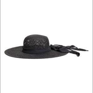 H&M Black Straw Floppy Hat